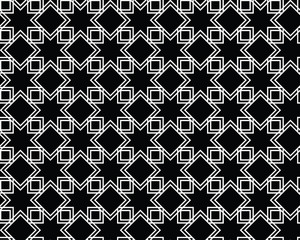 Islamic seamless art pattern. Eight-pointed star