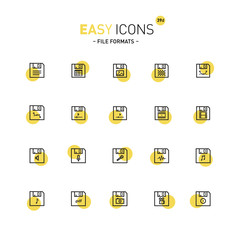 Easy icons 39d File formats