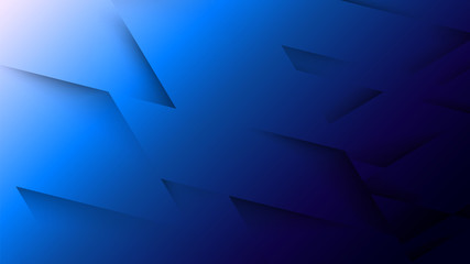 Abstract Three Dimensional Texture with Gradient Effect in Blue Tones. Aspect Ratio 16:9. Modern Vector Background Design.