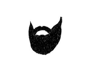Mustache Beard Man Face Style Illustration Hand Drawing Logo Vector