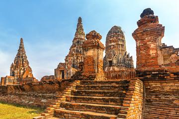 Wat Chaiwatthanaram Buddhist temple, Ayutthaya Historical Park, Ayutthaya, Thailand.