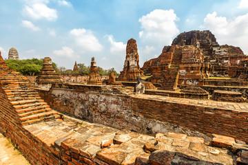 Old Buddhist Temple Wat Mahathat Ayutthaya Historical Park, Ayutthaya, Thailand