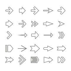 icon set with vector arrows for your design