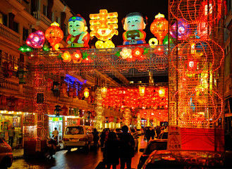 Beautiful colorful lanterns for celebrating Chinese New Year