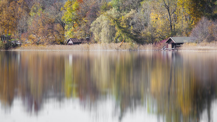 autumn scenery at the lake