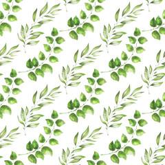 Green foliage pattern