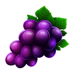 Grapes icon isolated on white background. Vector illustration