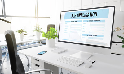 computer office job application
