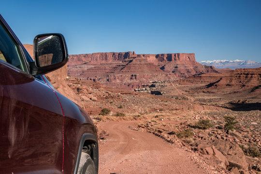truck moab utah shafer trail 4x4