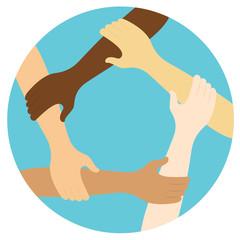 Team Zusammenhalt Flat Design Icon