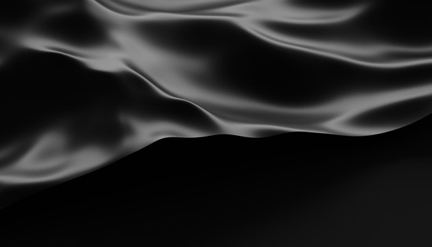 Abstract 3d rendering of smooth surface with ripples, cloth with waves, modern background design for poster, cover, branding, banner, placard