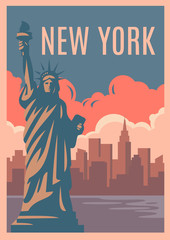 New York Retro Poster.