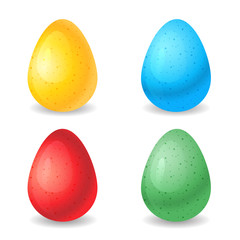 Vector illustration eggs different colors