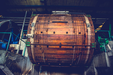 Wooden tannery leather drum or trommel