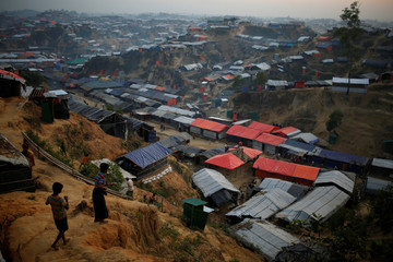A general view of the Balukhali refugee camp near Cox's Bazar