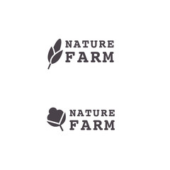 Logo for the farm. Flower of cotton or wheat ear. Vector logotype.