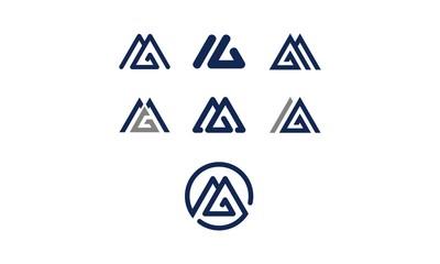 m MGemblem symbol icon vector logo