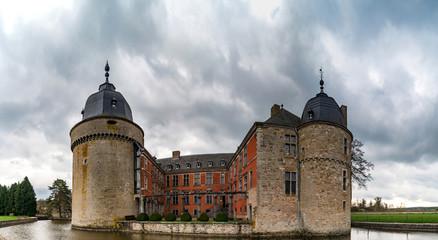 Lavaux-Sainte-Anne Castle Panoramic view, Belgium.