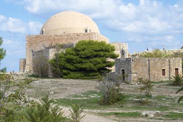 Mosque of Sultan Ibrahim in Fortezza citadel, Rethymno, Crete,
