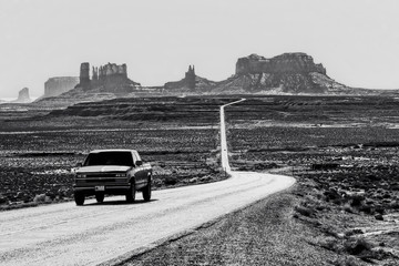 Landscape of Monument Valley in USA