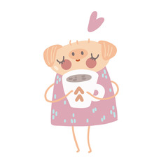 pig with a cup of coffee