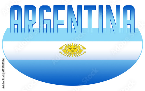 Illustration Logo Flag Of Argentina Official Symbols Isolated Stock