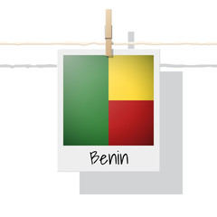 African country flag collection with photo of Benin flag , vector , illustration