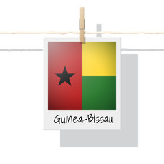 African country flag collection with photo of Guinea Bissau flag , vector , illustration