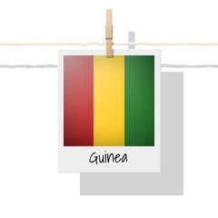 African country flag collection with photo of Guinea flag , vector , illustration