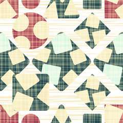 Tissue abstract print with geometric shapes.