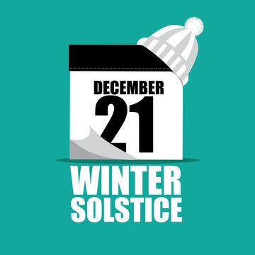 Winter Summer solstice illustration. Flat design. EPS 10 vector.