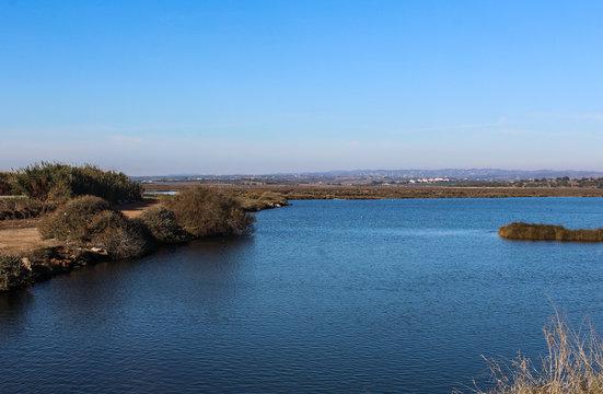 Castro Marim Marsh Natural Reserve, Vila Real de Santo Antonio in Portugal