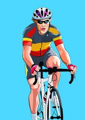 cycling man athlete illustration