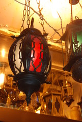 Arab lamps in the store