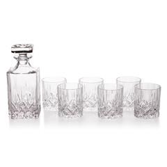 Crystal glass decanter set