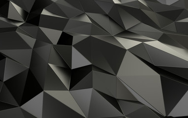 Grey Abstract Background 3D Rendering
