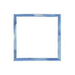 Blue navy watercolor grunge frame
