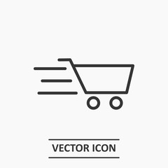 Outline shopping cart icon illustration vector symbol