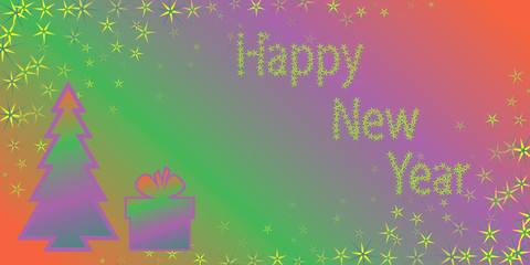 red violet green congratulation happy new year
