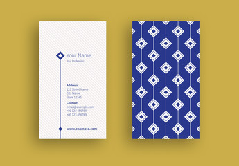 Business Card with a Diamond Patterned Layout