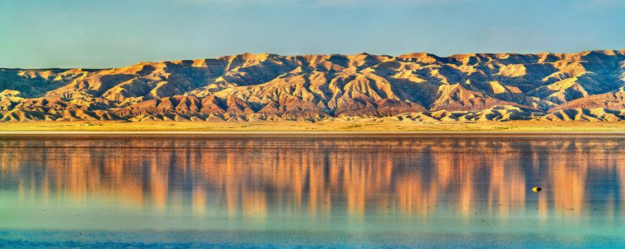 Chott el Djerid, a dry lake in Tunisia