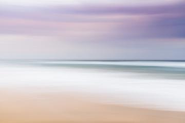 Blurred abstract landscape of beach, Sunrise Beach, Queensland, Australia