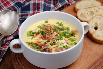 cheese soup with bacon