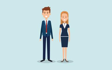 Fototapeta Kobieta i mężczyzna na stojąco ilustracja obraz