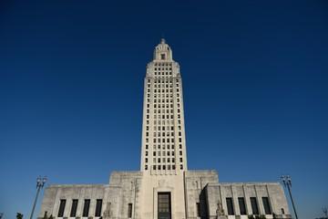 Louisiana State Capitol Building in downtown Baton Rouge, Louisiana / USA.