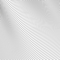 Abstract twisted background of lines. Texture for poster, banner, business cards, cover, postcard, design.