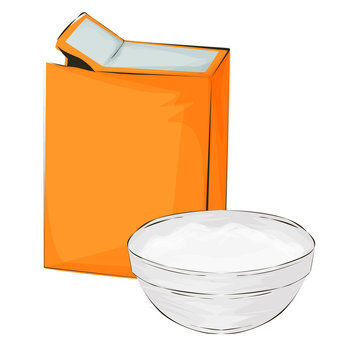 Baking soda vector illustration on a white background