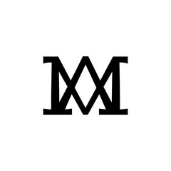 Christogram — Christian monogram of The Blessed Virgin Mary, Mother of God, Queen of Heaven, Our Lady, Madonna, Mediatrix of All Graces. (Ancient Medieval monogram).