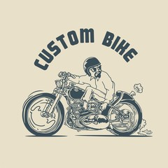 man riding a custom bike