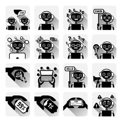 Set Of Chatbot Icons Concept Of Chat Bot Or Chatterbot Service Online Support Technology Vector Illustration